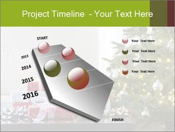 Red and white presents by christmas tree PowerPoint Templates - Slide 26