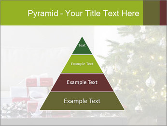 Red and white presents by christmas tree PowerPoint Templates - Slide 30