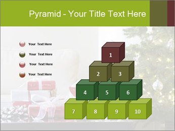 Red and white presents by christmas tree PowerPoint Templates - Slide 31