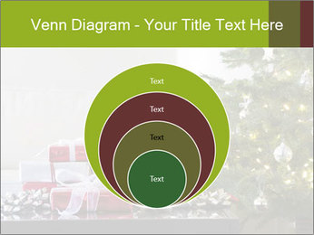 Red and white presents by christmas tree PowerPoint Templates - Slide 34