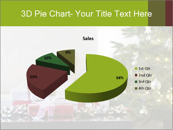 Red and white presents by christmas tree PowerPoint Templates - Slide 35