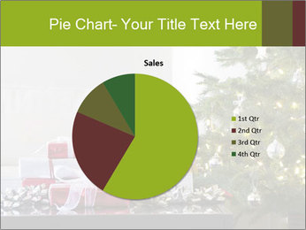 Red and white presents by christmas tree PowerPoint Templates - Slide 36