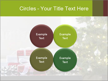 Red and white presents by christmas tree PowerPoint Templates - Slide 38