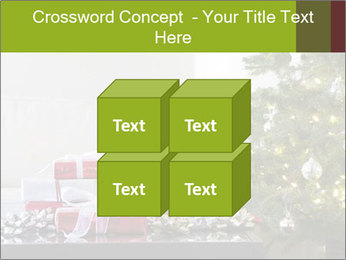 Red and white presents by christmas tree PowerPoint Templates - Slide 39