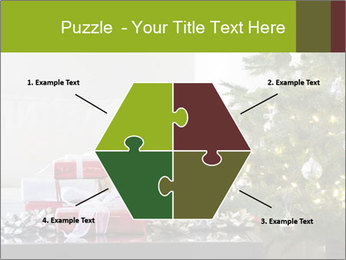 Red and white presents by christmas tree PowerPoint Templates - Slide 40