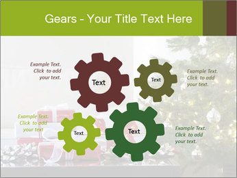Red and white presents by christmas tree PowerPoint Templates - Slide 47
