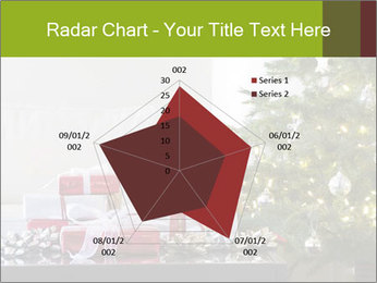 Red and white presents by christmas tree PowerPoint Templates - Slide 51