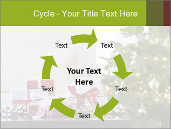 Red and white presents by christmas tree PowerPoint Templates - Slide 62