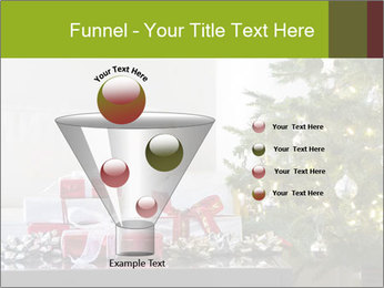 Red and white presents by christmas tree PowerPoint Templates - Slide 63