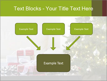 Red and white presents by christmas tree PowerPoint Templates - Slide 70