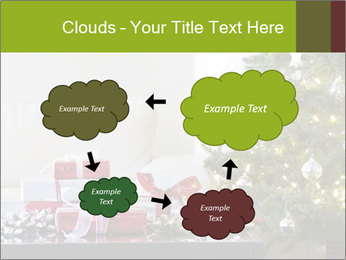 Red and white presents by christmas tree PowerPoint Templates - Slide 72