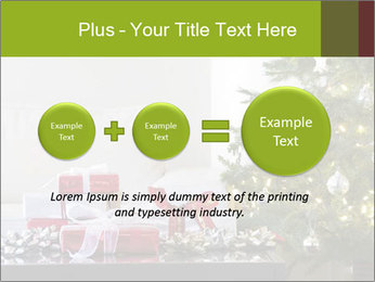 Red and white presents by christmas tree PowerPoint Templates - Slide 75