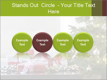 Red and white presents by christmas tree PowerPoint Templates - Slide 76