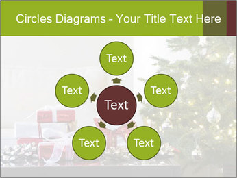 Red and white presents by christmas tree PowerPoint Templates - Slide 78