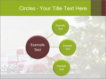 Red and white presents by christmas tree PowerPoint Templates - Slide 79