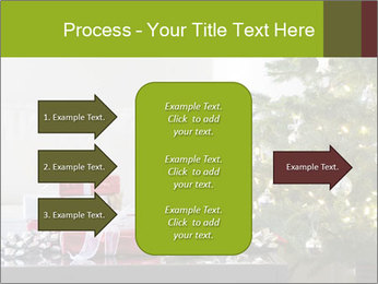 Red and white presents by christmas tree PowerPoint Templates - Slide 85