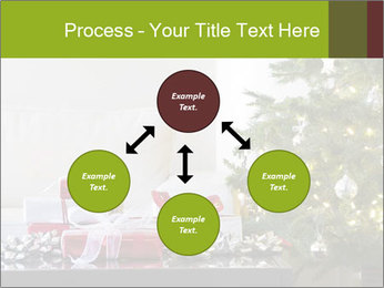 Red and white presents by christmas tree PowerPoint Templates - Slide 91