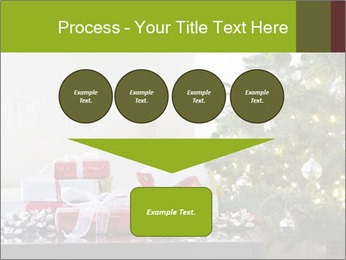 Red and white presents by christmas tree PowerPoint Templates - Slide 93