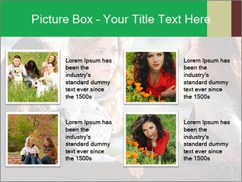 Girlfriends talking PowerPoint Template - Slide 14