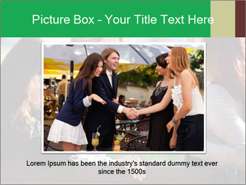 Girlfriends talking PowerPoint Template - Slide 15