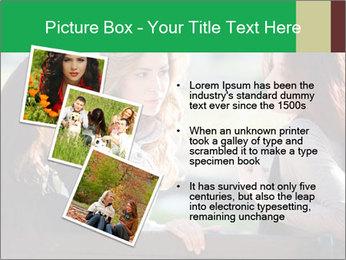 Girlfriends talking PowerPoint Template - Slide 17