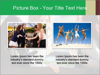 Girlfriends talking PowerPoint Template - Slide 18