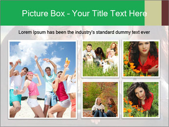 Girlfriends talking PowerPoint Template - Slide 19
