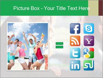 Girlfriends talking PowerPoint Template - Slide 21