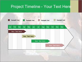 Girlfriends talking PowerPoint Template - Slide 25