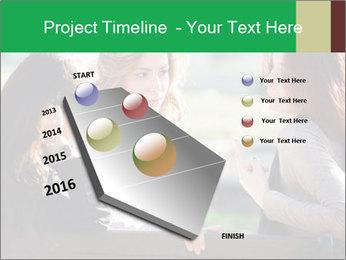Girlfriends talking PowerPoint Template - Slide 26