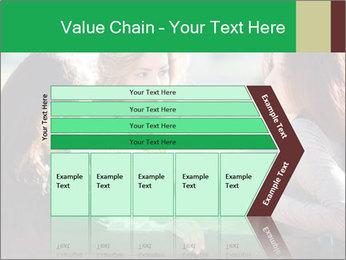 Girlfriends talking PowerPoint Template - Slide 27