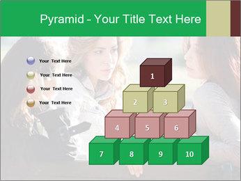 Girlfriends talking PowerPoint Template - Slide 31