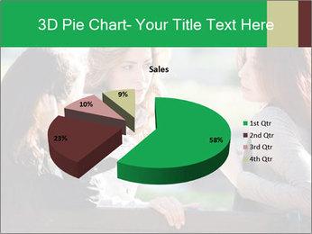 Girlfriends talking PowerPoint Template - Slide 35