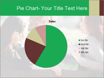 Girlfriends talking PowerPoint Template - Slide 36