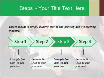 Girlfriends talking PowerPoint Template - Slide 4