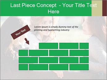 Girlfriends talking PowerPoint Template - Slide 46