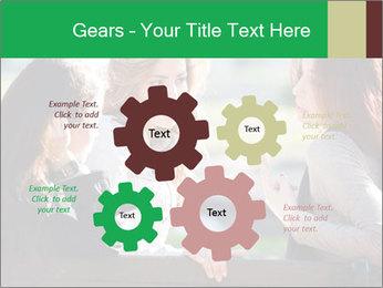 Girlfriends talking PowerPoint Template - Slide 47
