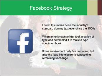 Girlfriends talking PowerPoint Template - Slide 6