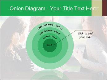Girlfriends talking PowerPoint Template - Slide 61