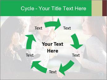 Girlfriends talking PowerPoint Template - Slide 62