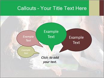 Girlfriends talking PowerPoint Template - Slide 73