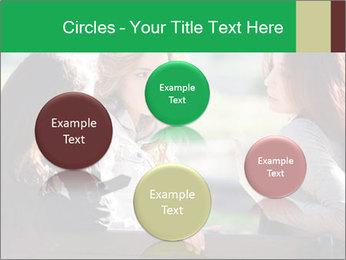 Girlfriends talking PowerPoint Template - Slide 77