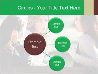 Girlfriends talking PowerPoint Template - Slide 79