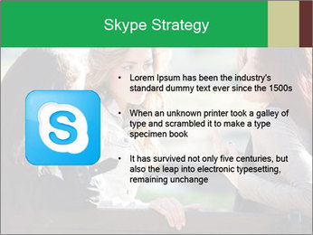 Girlfriends talking PowerPoint Template - Slide 8