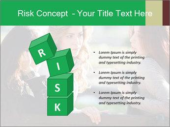 Girlfriends talking PowerPoint Template - Slide 81