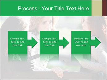 Girlfriends talking PowerPoint Template - Slide 88