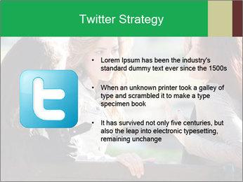 Girlfriends talking PowerPoint Template - Slide 9