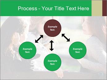 Girlfriends talking PowerPoint Template - Slide 91