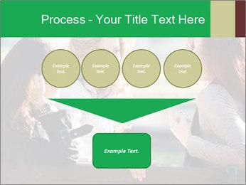 Girlfriends talking PowerPoint Template - Slide 93