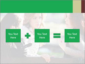 Girlfriends talking PowerPoint Template - Slide 95
